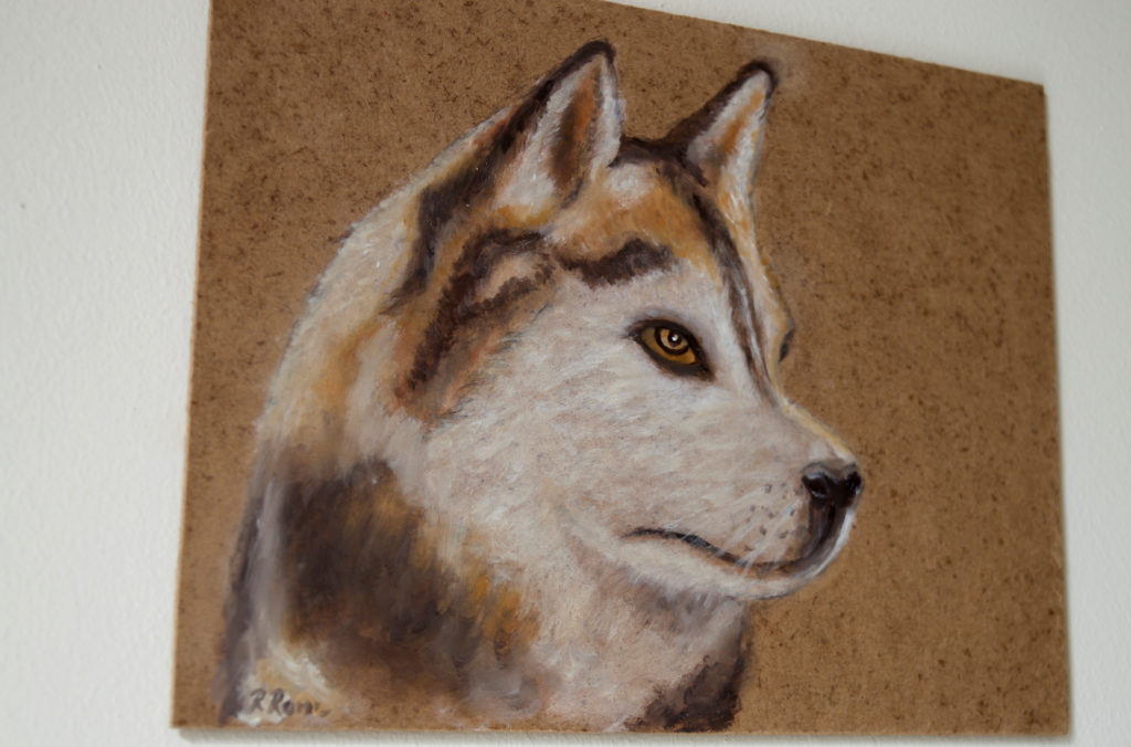 Painting of a husky sold by We Are Crafty