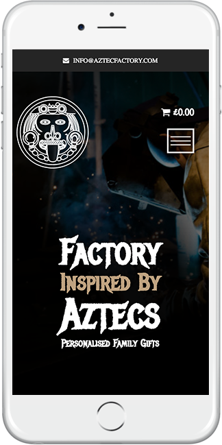 Mobile responsive web design for Aztec Factory