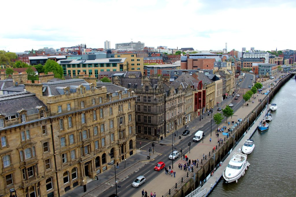 View of a web design company in Newcastle's quayside