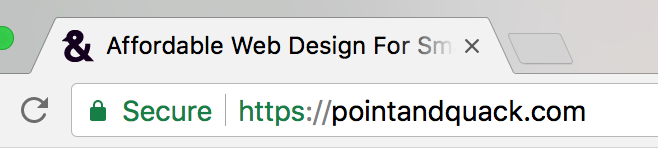 Example of a favicon within a browser's tab used to improve SEO scores