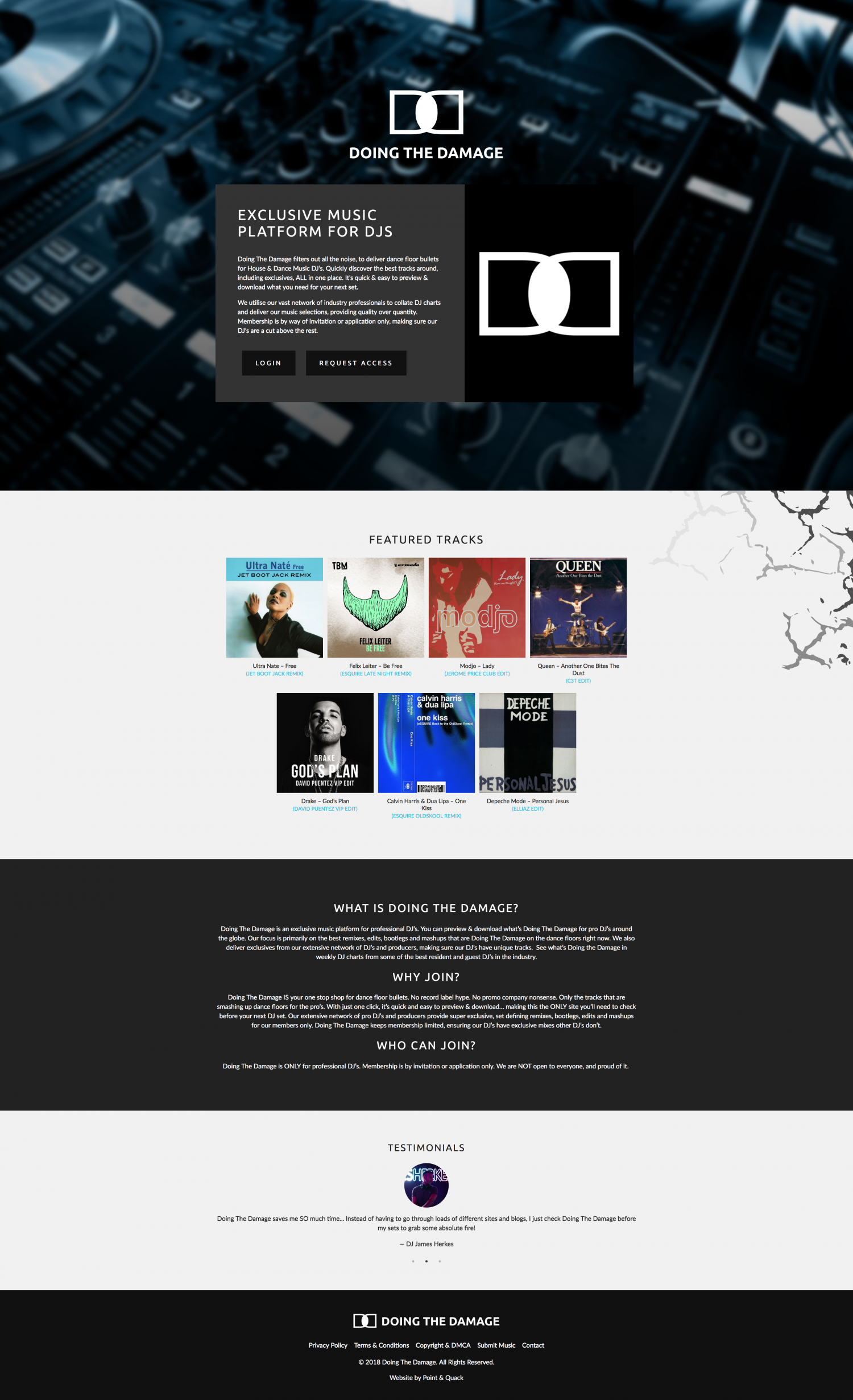 Landing page view to encourage interests